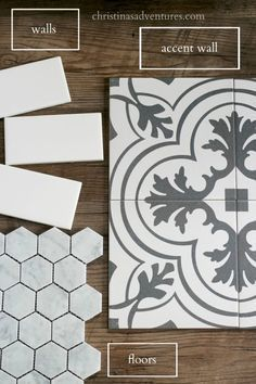 The hexagon will be in the bathroom eventually :) Where to buy affordable bathroom tile and ideas of how to implement them in your bathroom remodel - great shower tile ideas
