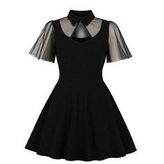 Cheap Dresses, Sexy Dresses, Casual Dresses, Robe Swing, Swing Dress, Vestidos Vintage, Vintage Dresses, Natural Clothing, Mesh Dress