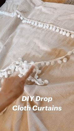 No Sew Curtains, Drop Cloth Curtains, Burlap Curtains, Curtains With Blinds, Clothing Patterns, Sewing Patterns, Drop Cloth Projects, Sewing Crafts, Sewing Projects