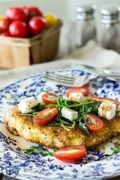 Chicken Milanese with Arugula, Tomatoes and Fresh Mozzarella   The Beach House Kitchen