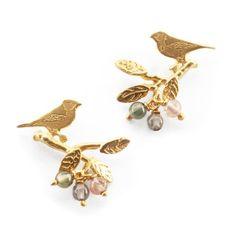 Bird on Branch Earrings by Amanda Coleman