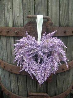 Heart of Lavender ~ Ana Rosa Lavender Cottage, Lavender Fields, Lavender Blue, Lavender Wreath, Lavender Decor, Purple Wreath, Floral Wreath, Deco Floral, Arte Floral