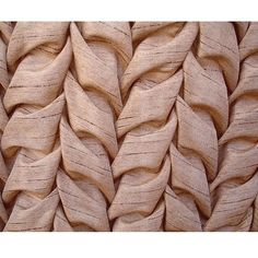 Smocking Leaves - Art Silk Beige Color Fabric - Leaves Pattern with Smocking Technique. $11.45, via Etsy.
