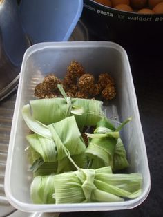 Corn husk pockets for foraging. My parrots' all time favorite treat!