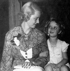 Bette Davis and Shirley Temple, 1930s.