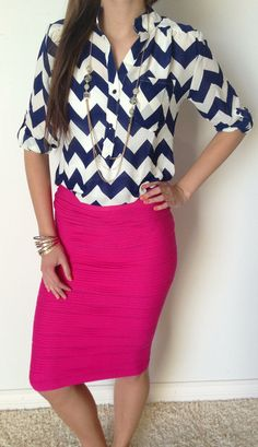 Seas of Chevron Blouse is BACK IN STOCK!! Grab one before they sell out like last time!!! http://www.sexymodest.com/collections/featured/products/seas-of-chevron #sexymodestboutique #chevronblouse #pinkscrunchy