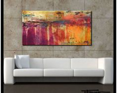 Modern, Abstract, Canvas Wall Art, 48 x 24 x 1.5, Ready to Hang, Limited Edition Giclee...TRUTH...ELOISExxx