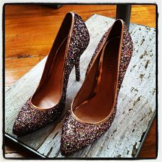 glitter shoes at anthropologie