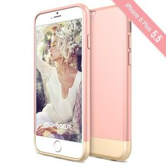 Amazon.com: iPhone 6S Plus Case, Maxboost [Vibrance S] Slider Style Protective Case SOFT-Interior Cover for iPhone 6 Plus 2014 / 6S Plus 2015 [Lifetime Warranty] - Rose Gold: Cell Phones & Accessories