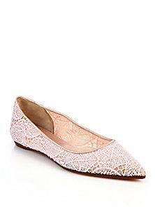6b701188e Giambattista Valli - Macrame Fogile Flats Best Bridal Shoes, Comfortable  Flats, The Zoe Report