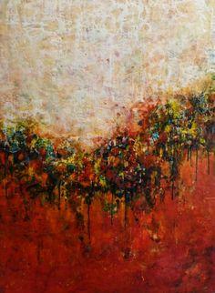 "encaustic painting pinterest | ... Ezshwan Winding; Encaustic Wax, 2011, Painting ""Unstoppable Movement"