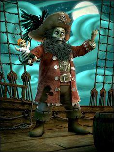 3d horror monster scary devil ghost evil weird