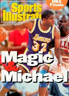 Los Angeles Lakers Magic Johnson, 1991 Nba Finals Sports Illustrated Cover Photograph by Sports Illustrated Basketball Is Life, Basketball Pictures, Basketball Legends, Basketball History, Jordan Basketball, Basketball Shirts, Magic Johnson, Michael Jordan, Mike Friends