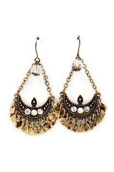 Antiqued Boho Chandelier Earrings