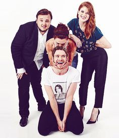 John Bradley, Richard Madden, Michelle Fairley, and Rose Leslie of 'Game of Thrones""