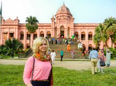 In Ahsan Manzil, a beautiful palace from colonial period in Bangladesh. Read my experience of visiting Bangladesh for 11 days during the travel alert from the west.