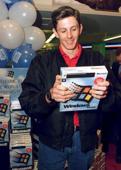 This is supposedly the first person in the world who bought Windows 95.