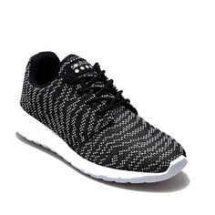 Souluxe Monochrome Knitted Trainers With Arch Support