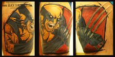 Tattoo by Black Sun Tattoo , Warsaw , Poland #wolverine #wolverinetattoo #marvel #marveltattoo #comicstattoo #blacksuntattoo