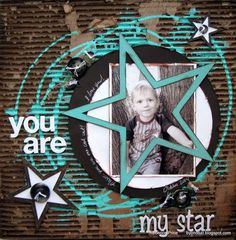 Layout: You are my star. By Byondbzr scrapbook page Kids Scrapbook, Scrapbook Paper Crafts, Scrapbook Cards, Picture Scrapbook, Scrapbook Layout Sketches, Scrapbooking Layouts, Digital Scrapbooking, Box Photo, Picture Layouts