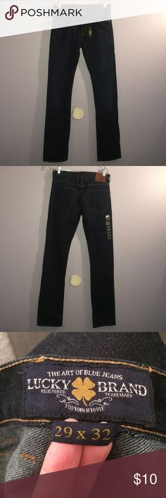 Lucky Brand Slim Fit Skinny Jeans NWT Low rise, slim fit, and tapered leg. True to size. Never worn. The inside tag is marked out as can be seen in the last photo. Very stylish pair of skinnies every guy needs. Lucky Brand Jeans Skinny
