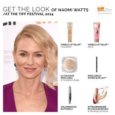 #NaomiWatts rocking the #TIFF14 red carpet! Re-create her look with these!