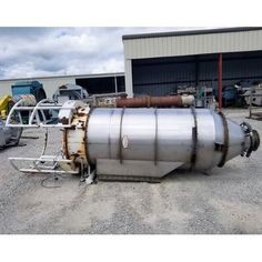 Capacity: 209 sq. ft. (21) Filters. 6 in. x 6 ft. long ea. 3 in. tangential product inlet in hopper. 5 in. clean air outlet. 10 in. flanged material outlet in fluidized hopper.  View...