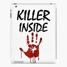 'Killer Inside - Bloody Imprint' iPad Case/Skin by RIVEofficial Lip Designs, Ipad Case, Custom Design, Finding Yourself, Product Launch, Phone Cases, Trends, Accessories