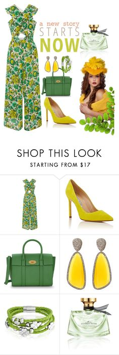 """""""Untitled #71"""" by imnotyourstyle on Polyvore featuring Alice McCall, Manolo Blahnik, Mulberry, Christina Debs, Bling Jewelry and Bulgari"""