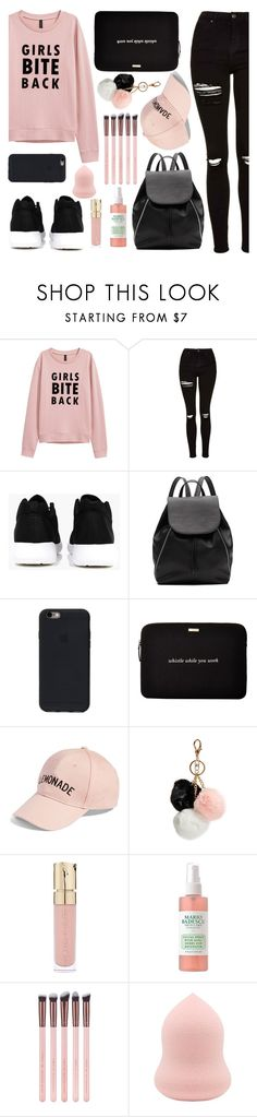 """PINKY."" by valemx ❤ liked on Polyvore featuring Topshop, Boohoo, Witchery, Kate Spade, Amici Accessories, GUESS and Smith & Cult"