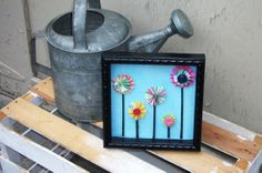 Full Bloom 8 inch memory box in black frame by RedRiverValley, $22.00