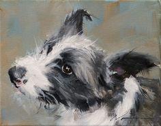 """PAINT MY DOG Series - Lyra - #16"" original fine art by Clair Hartmann"
