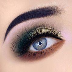 33 Stunning eye makeup ideas - gorgeous eye makeup for blue eyes, makeup for green eyes, makeup for brown eyes #makeup #eyemakeup