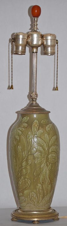Rookwood Pottery Lamp  from Just Art Pottery (Rehm)