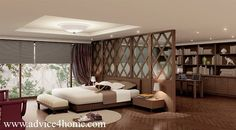 elegant screen partition bedroom