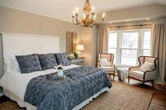 For the master bedroom, the Kings selected vaulted ceilings from three possible design options that Joanna presented.