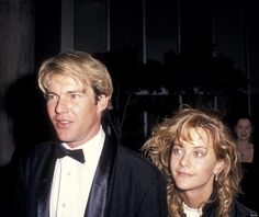 Forgotten Celebrity Friendships Of The 80s     Dennis Quaid and Meg Ryan in 1989