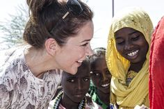 Crown Princess Mary and Minister Mogens Jensen in a small village in Afambo district.