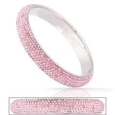 Mob Candy 7-Row Pave PINK Crystal Bangle Bracelet  $ 35.00