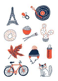 Montréal - Paris - Viet Nam | Anne-Julie Dudemaine Illustration