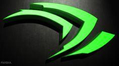 Tecnologia Nvidia  Texture Escuridão 3D Verde Logo Papel de Parede