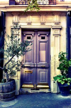 Pretty doors in Montmartre, Paris.