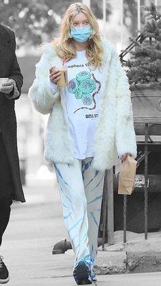 Elsa Hosk in New York City, New York on Wednesday 04/11/2020 #VeronicaTasmania Mena Suvari, Elsa Hosk, Off Duty, Veronica, Color Splash, Wednesday, Contrast, Product Description, Graphic Sweatshirt