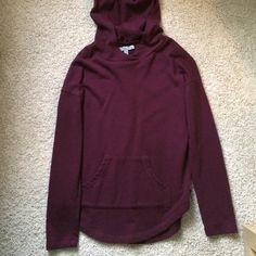Maroon Hoodie Really cute hoodie, light sweatshirt material, no trades. Olivia Sky Tops Sweatshirts & Hoodies