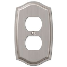 Amerelle Sonoma 159DBN 1 Duplex Outlet Wall Plate Cover, Brushed Nickel – Wall Switch Plates – Residential Lighting - GreyDock.com