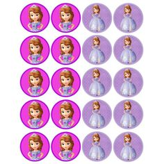 Sofia The First (2 inch) - for Balloon, Stickers, Lollipop, Favor bags