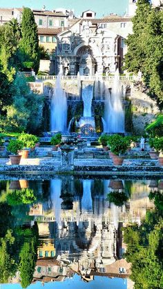 Tivoli, Villa D'este, Rome, Italy ... This   looks like the mansion in the movie version of The Count of Monte   Cristo!!!