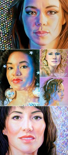 Disco Girls Miniature Portraits © Mary Jones Easley