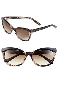 Free shipping and returns on kate spade new york 'amaras' 55mm sunglasses at Nordstrom.com. A bold browline adds unmistakable attitude to shapely kate spade sunglasses outfitted with smoky gradient lenses.