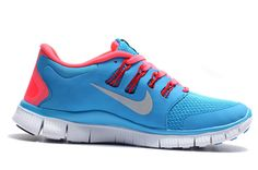 Cheap Nike Free 5.0 V2 Neon Blue Red Womens,www.freerundistance.com